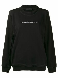 Diesel logo embellished sweater - Black