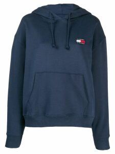 Tommy Jeans logo embroidered hoodie - Blue