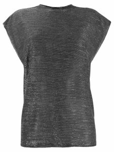 IRO lightweight metallic top - Black