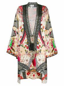 Camilla printed kimono jacket - Neutrals