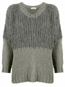 Maison Flaneur two tone sweatshirt - Grey