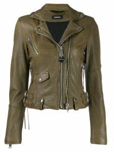 Diesel L-Sinya-A biker jacket - Green
