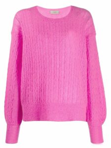 Maison Flaneur cable knit jumper - PINK