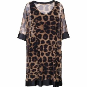 Carolina Cavour Animal Print Net Dress
