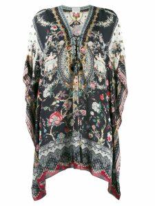 Camilla printed tunic top - Black