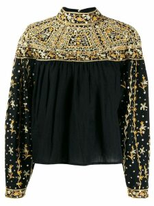 Ulla Johnson Kiara embroidered top - Black