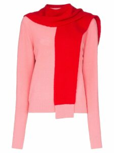 SJYP split-cuff knitted jumper - PINK