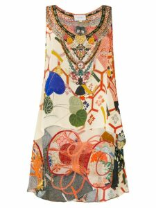 Camilla embellished vest top - Neutrals