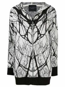 Erika Cavallini intarsia zipped cardigan - White