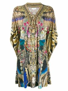 Camilla printed kimono top - Brown