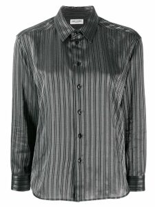 Saint Laurent striped boxy shirt - Black