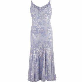 Chesca Lilac Devoree Applique Bead Trim Dress
