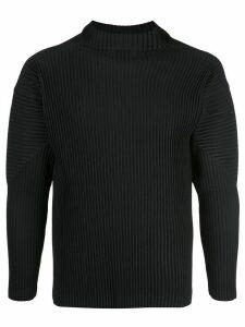 Homme Plissé Issey Miyake plissé turtleneck top - Black