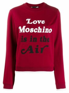 Love Moschino slogan print sweatshirt - Red