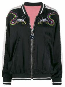 Diesel reversible embroidered bomber jacket - Black