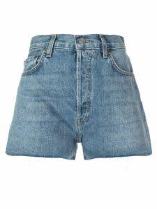 Re/Done mid rise denim shorts - Blue