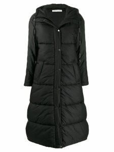 Off-White hooded padded coat - Black