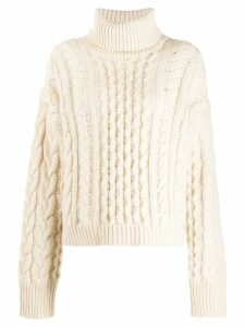 Alanui cable knit jumper - White