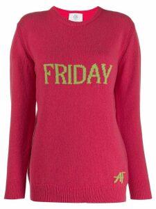 Alberta Ferretti Friday intarsia jumper - PINK