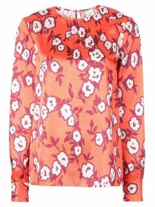 Carolina Herrera floral print blouse - ORANGE