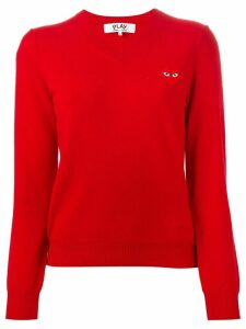 Comme Des Garçons Play embroidered heart sweater