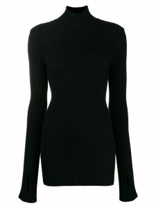 Paco Rabanne ribbed high-neck sweater - Black