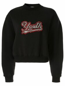 MSGM embellished Youth sweatshirt - Black