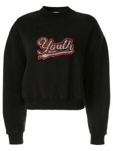 MSGM embellished Youth sweatshirt - Black