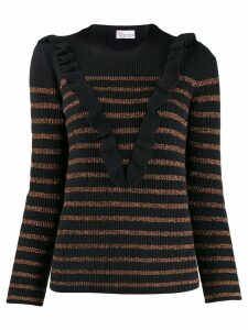Red Valentino stripped knit sweater - Blue