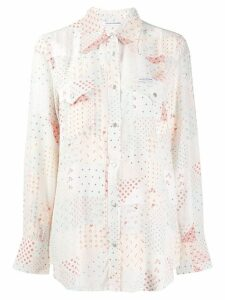 Calvin Klein Jeans patchwork print shirt - White