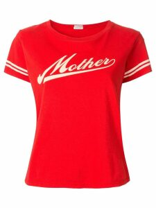 Mother contrast logo T-shirt - Red