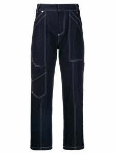 Chloé cropped cargo jeans - Blue