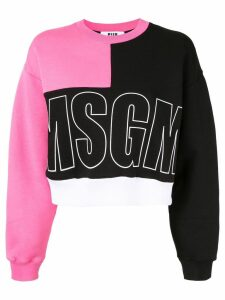 MSGM contrast logo sweatshirt - Black