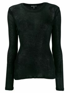 James Perse fine knit sweater - Black