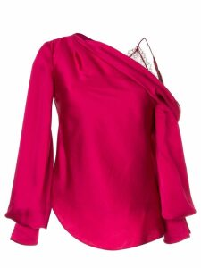 Jonathan Simkhai drop shoulder blouse - PURPLE