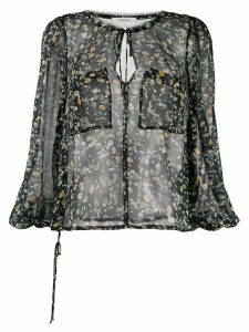 Dorothee Schumacher floral print pocket blouse - Black