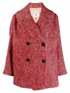 Semicouture double breasted coat - Red
