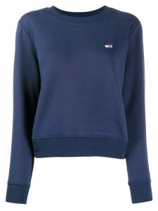Tommy Jeans logo embroidered sweater - Blue