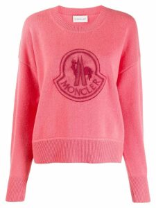 Moncler logo patch sweater - PINK