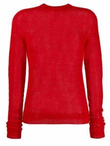 Rick Owens round neck sweater - Red