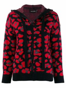 Zadig & Voltaire knitted zip-up hoodie - Red