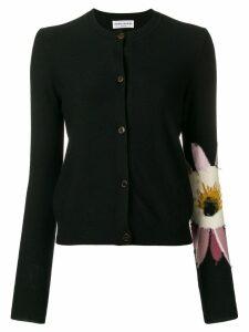 Sonia Rykiel flower sleeve cardigan - Black