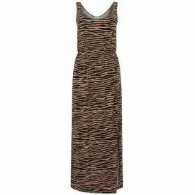 Warehouse Tiger Print Maxi Dress