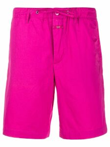 Closed drawstring waist shorts - Pink