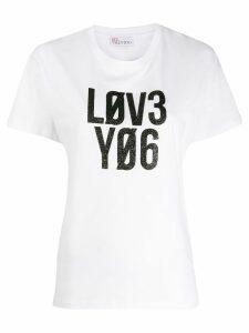 RedValentino slogan print T-shirt - White