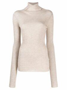 Jil Sander ribbed knit sweater - NEUTRALS