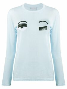 Chiara Ferragni Flirting long-sleeved T-shirt - Blue