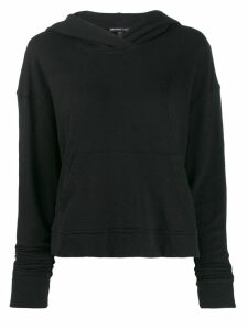 James Perse vintage fleece cropped hoodie - Black