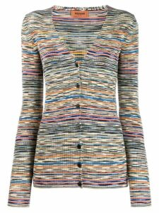 Missoni striped pattern cardigan - Blue
