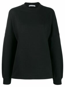 T By Alexander Wang logo print sweatshirt - Black
